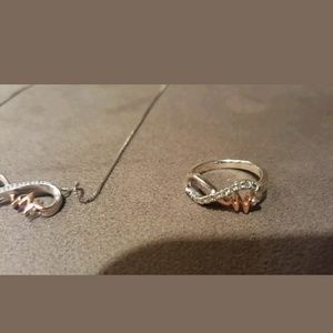 Kay's SET Infinity Ring Necklace Pendent Set